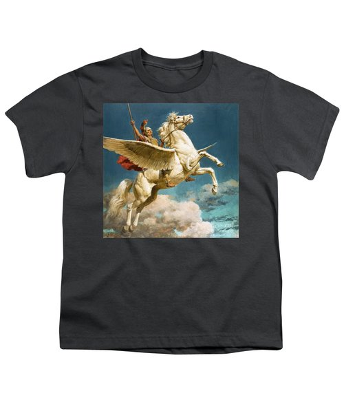 Pegasus The Winged Horse Youth T-Shirt by Fortunino Matania