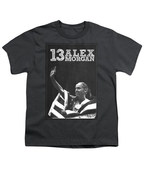 Alex Morgan Youth T-Shirt by Semih Yurdabak