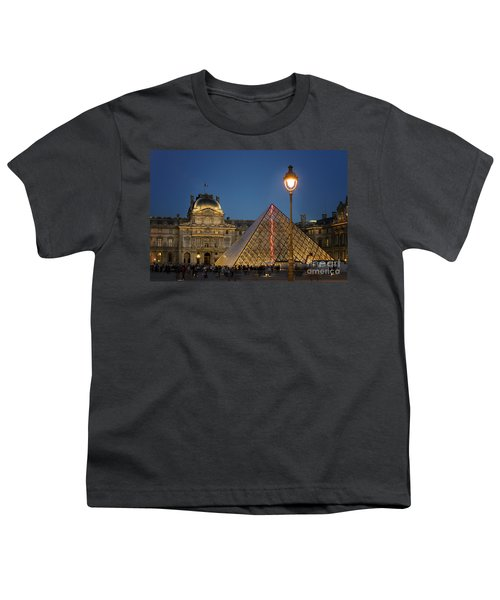Louvre Museum At Twilight Youth T-Shirt by Juli Scalzi