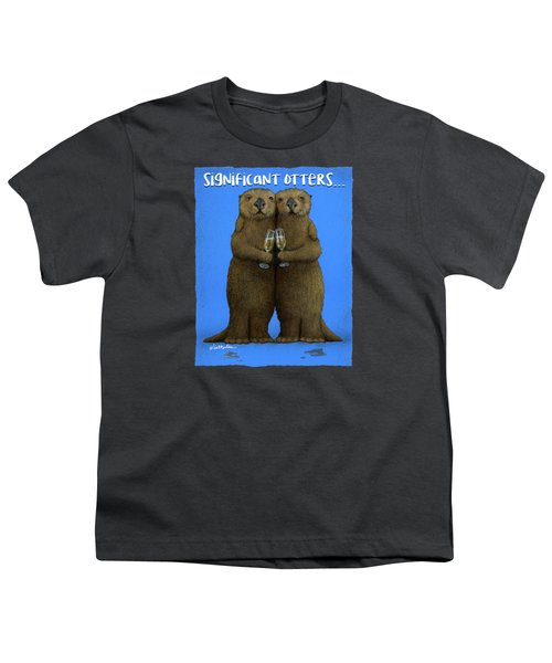 Significant Otters... Youth T-Shirt by Will Bullas
