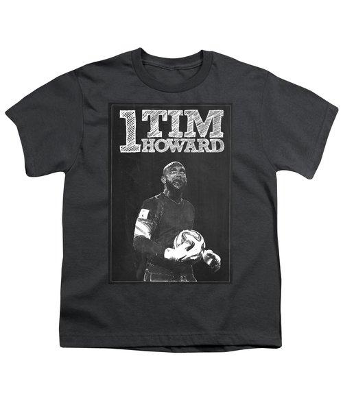 Tim Howard Youth T-Shirt by Semih Yurdabak