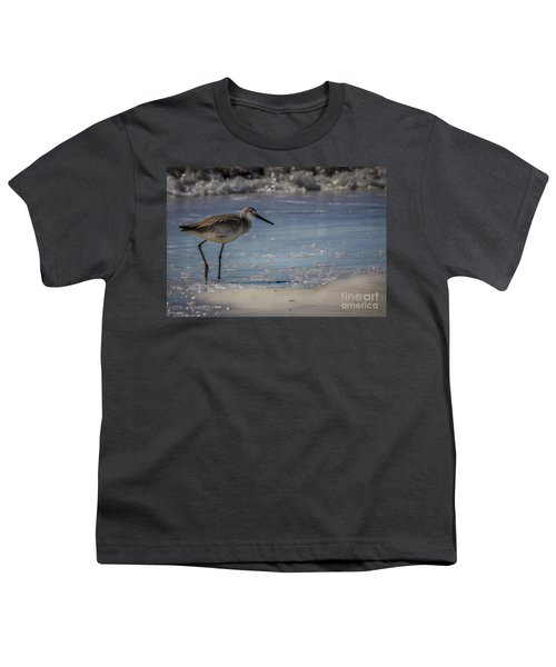 A Walk On The Beach Youth T-Shirt by Marvin Spates