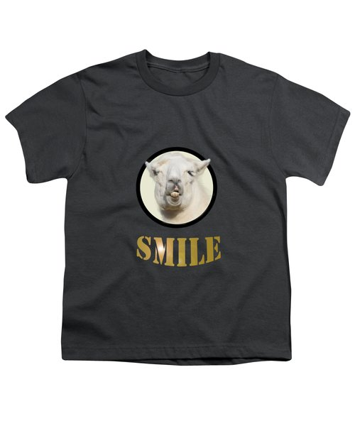 Alpaca Smile  Youth T-Shirt by Rob Hawkins