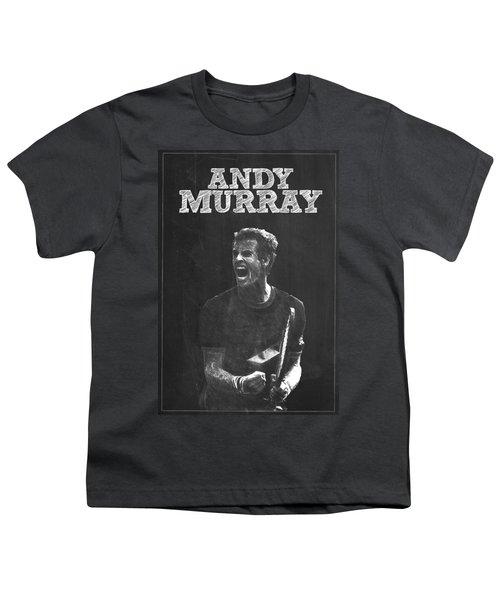 Andy Murray Youth T-Shirt by Semih Yurdabak