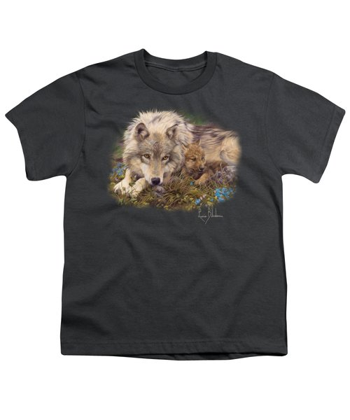 In A Safe Place Youth T-Shirt by Lucie Bilodeau