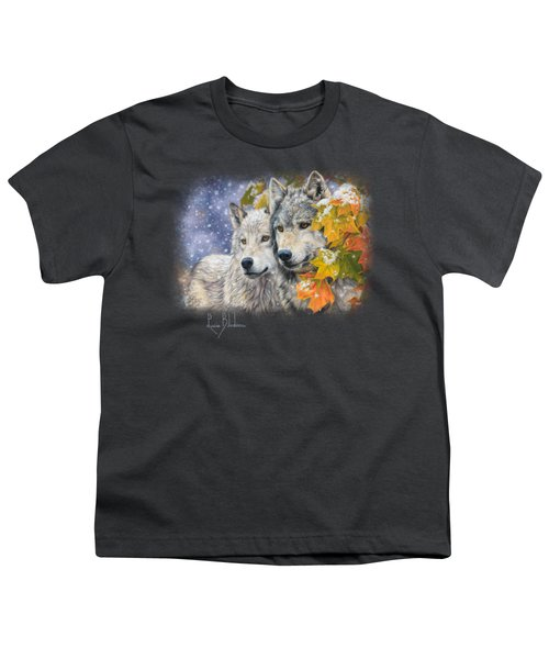 Early Snowfall Youth T-Shirt by Lucie Bilodeau