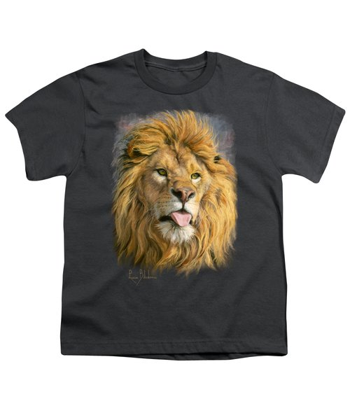 Silly Face Youth T-Shirt by Lucie Bilodeau