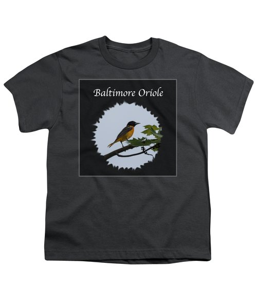 Baltimore Oriole  Youth T-Shirt by Jan M Holden