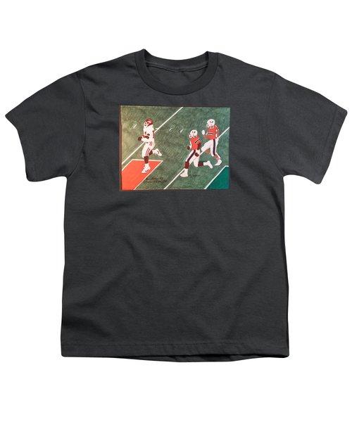 Arkansas V Miami, 1988 Youth T-Shirt by TJ Doyle