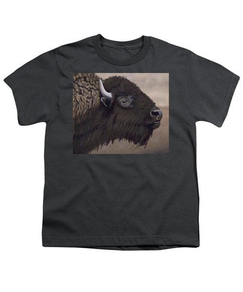 Bison Youth T-Shirt by Jacqueline Barden