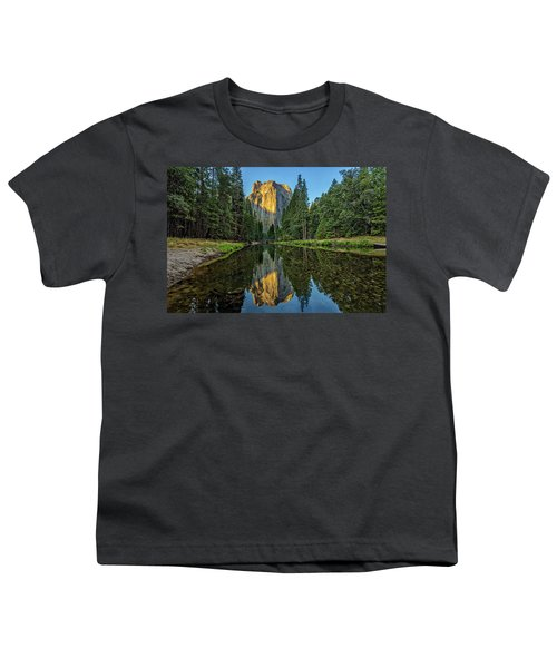 Cathedral Rocks Morning Youth T-Shirt by Peter Tellone