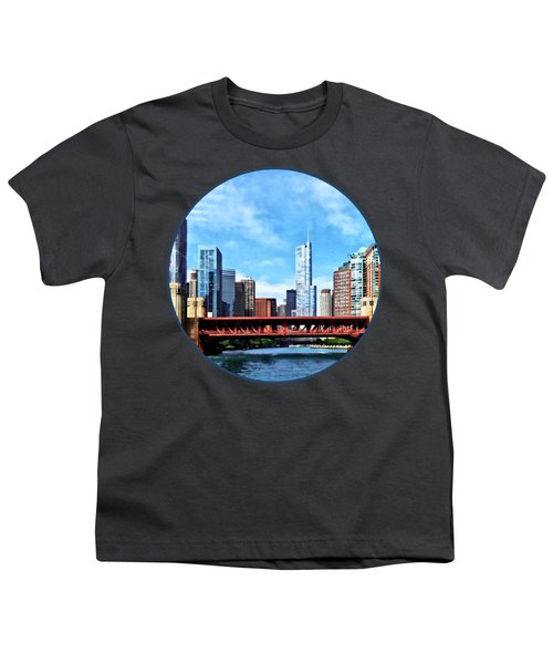 Chicago Il - Lake Shore Drive Bridge Youth T-Shirt by Susan Savad