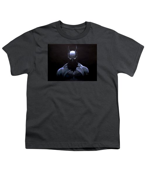 Dark Knight Youth T-Shirt by Marcus Quinn