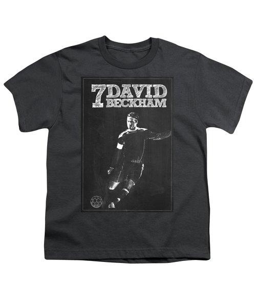 David Beckham Youth T-Shirt by Semih Yurdabak