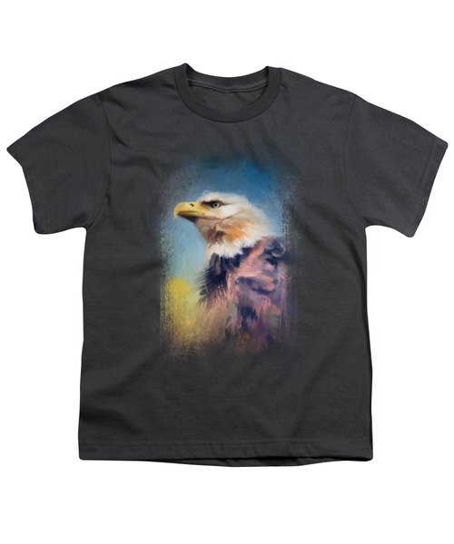Eagle On Guard Youth T-Shirt by Jai Johnson