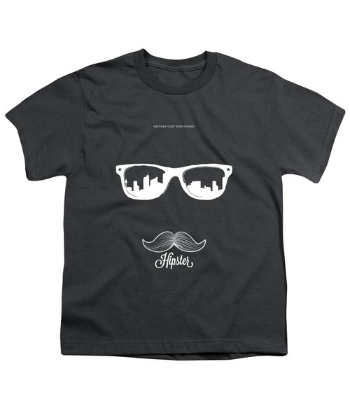 Hipster Neither Lost Nor Found Youth T-Shirt by Bekare Creative