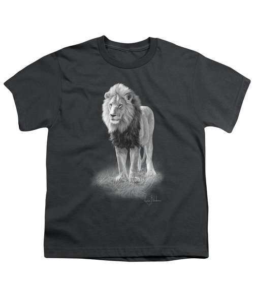 In His Prime - Black And White Youth T-Shirt by Lucie Bilodeau