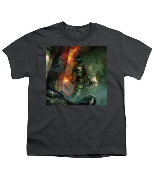 In The Lair Of The Gorgon Youth T-Shirt by Ryan Barger