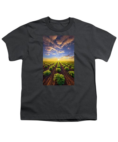 Into The Future Youth T-Shirt by Phil Koch