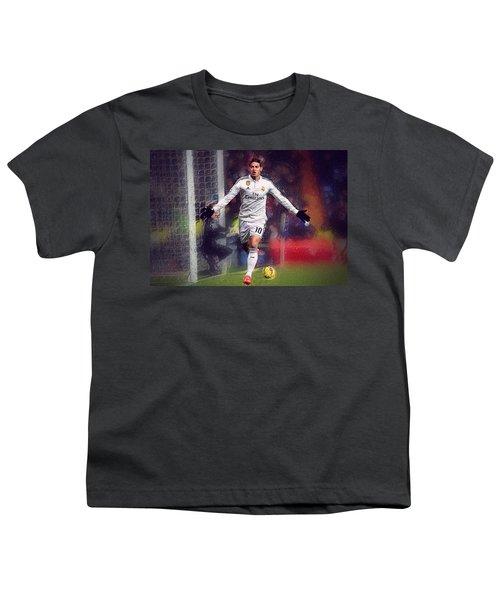 James Rodrigez Youth T-Shirt by Semih Yurdabak