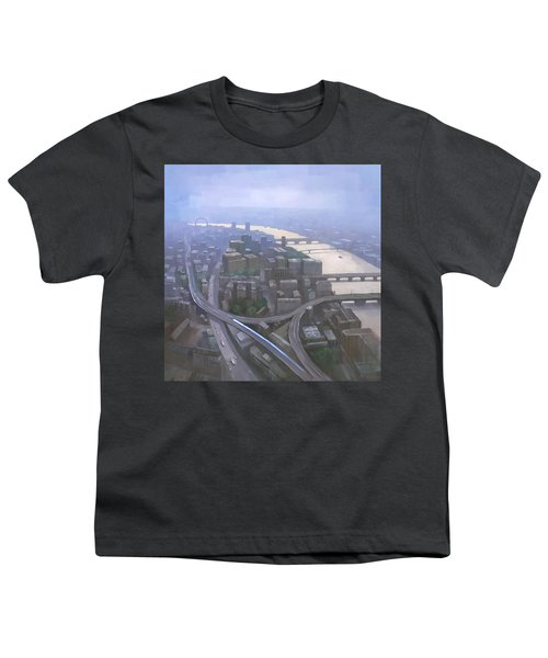 London, Looking West From The Shard Youth T-Shirt by Steve Mitchell