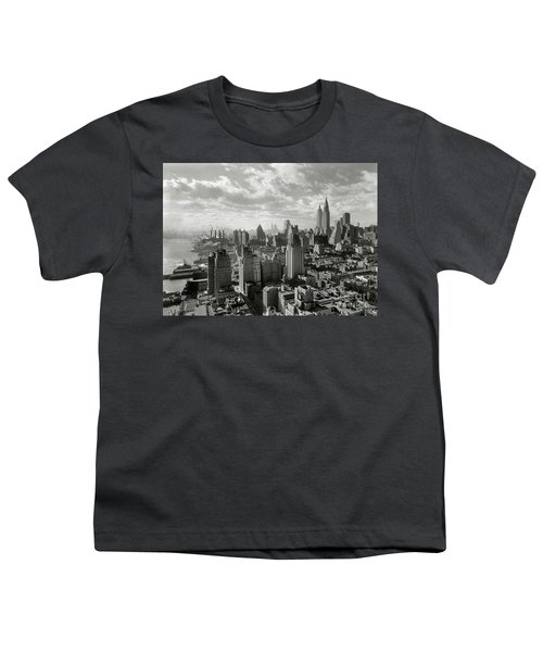 New Your City Skyline Youth T-Shirt by Jon Neidert