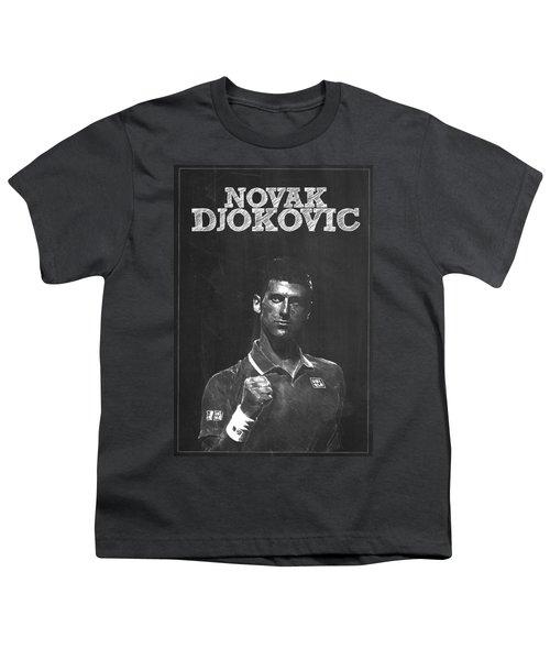 Novak Djokovic Youth T-Shirt by Semih Yurdabak