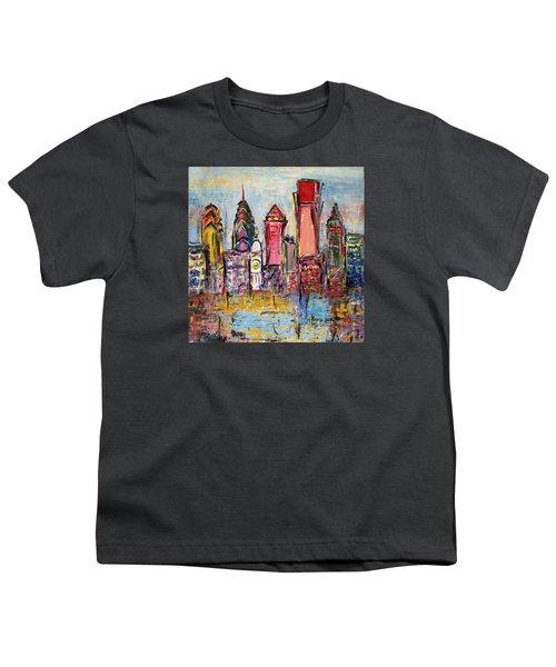 Philadelphia Skyline 232 1 Youth T-Shirt by Mawra Tahreem