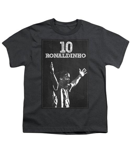 Ronaldinho Youth T-Shirt by Semih Yurdabak