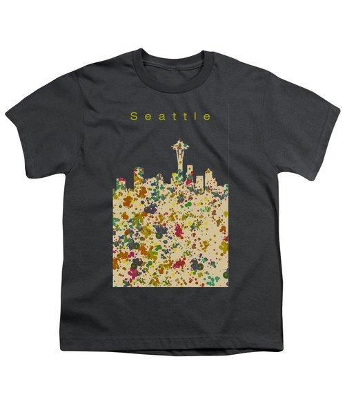 Seattle Skyline 1 Youth T-Shirt by Alberto RuiZ