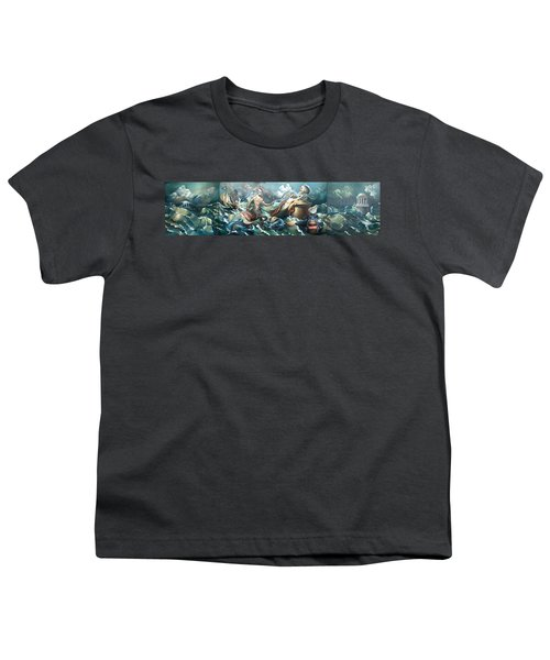 Something Fowl Afloat 2b Youth T-Shirt by Patrick Anthony Pierson