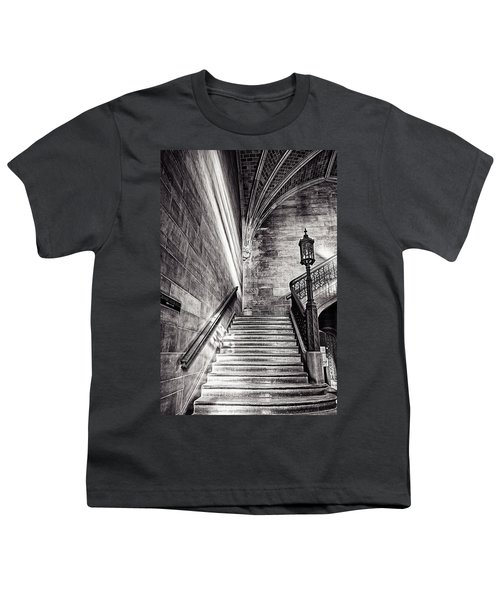 Stairs Of The Past Youth T-Shirt by CJ Schmit