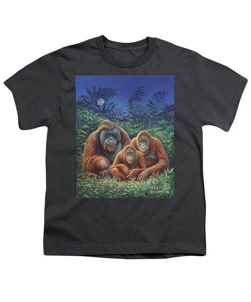 Sumatra Orangutans Youth T-Shirt by Hans Droog