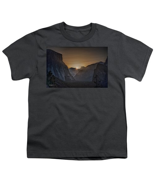 Sunburst Yosemite Youth T-Shirt by Bill Roberts