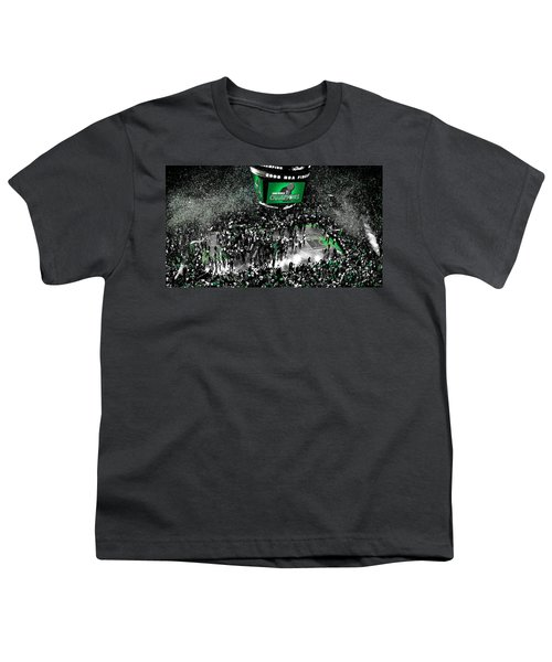 The Boston Celtics 2008 Nba Finals Youth T-Shirt by Brian Reaves