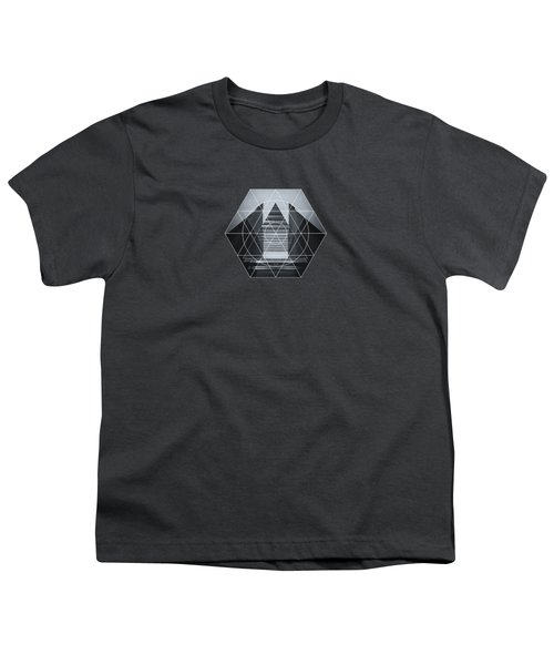 The Hotel Experimental Futuristic Architecture Photo Art In Modern Black And White Youth T-Shirt by Philipp Rietz