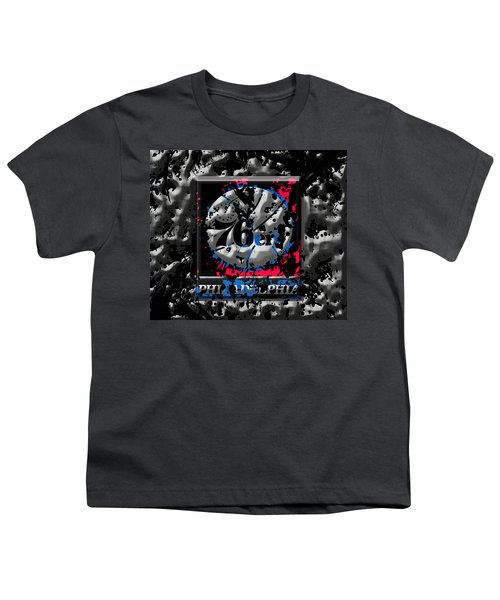 The Philadelphia 76ers Youth T-Shirt by Brian Reaves