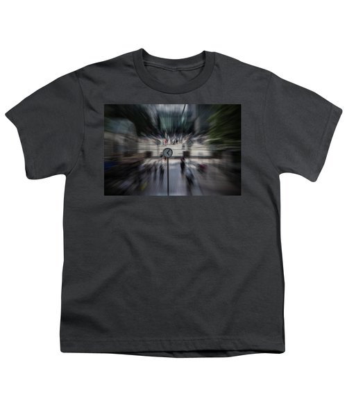 Time Traveller Youth T-Shirt by Martin Newman