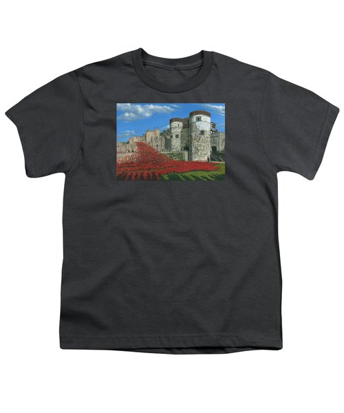 Tower Of London Poppies - Blood Swept Lands And Seas Of Red  Youth T-Shirt by Richard Harpum