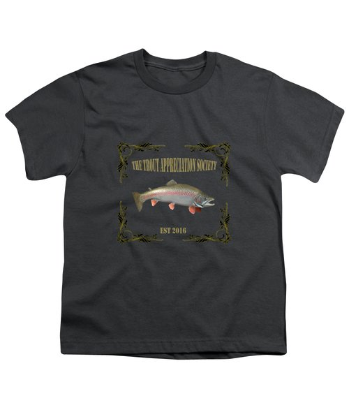 Trout Appreciation Society  Youth T-Shirt by Rob Hawkins