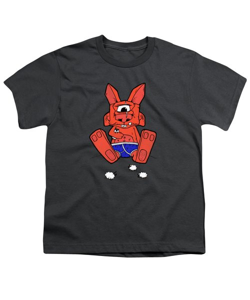 Uno The Cyclops Bunny Youth T-Shirt by Bizarre Bunny