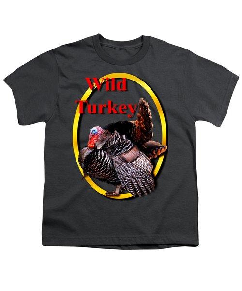 Wild Turkey Youth T-Shirt by John Furlotte