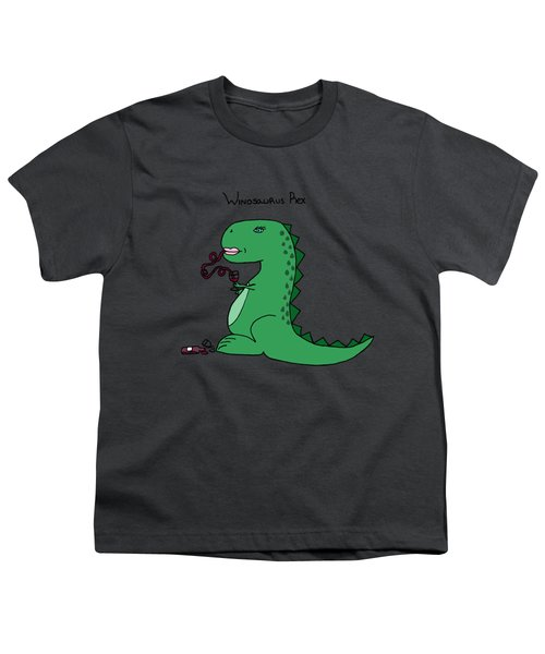 Winosaurus Rex Youth T-Shirt by Tamera Dion
