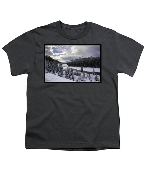 Winter In The Rockies Youth T-Shirt by J and j Imagery
