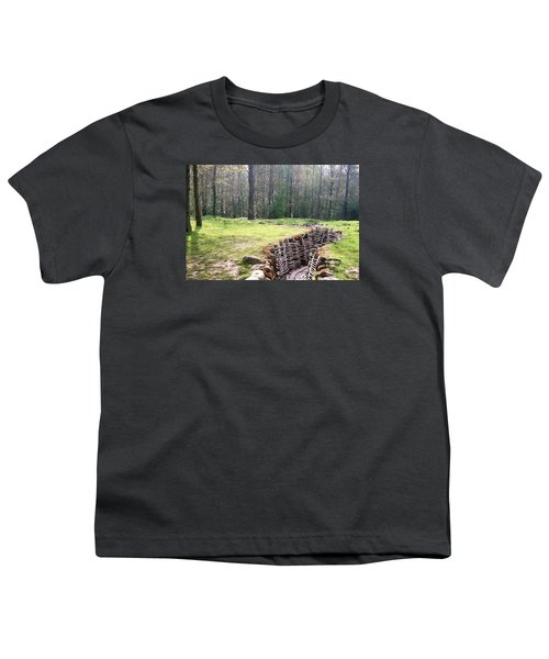 Youth T-Shirt featuring the photograph World War One Trenches by Travel Pics