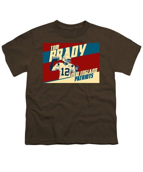 Tom Brady Youth T-Shirt by Taylan Apukovska