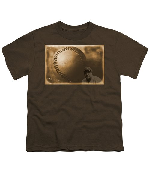 A Tribute To Babe Ruth And Baseball Youth T-Shirt by Dan Sproul