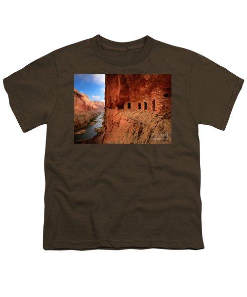 Anasazi Granaries Youth T-Shirt by Inge Johnsson