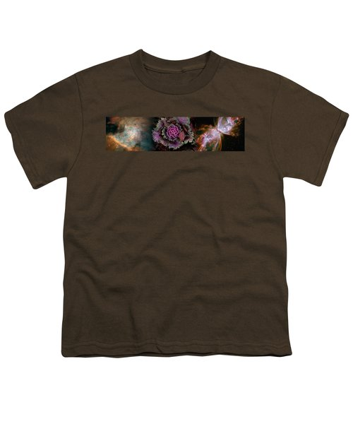 Cabbage With Butterfly Nebula Youth T-Shirt by Panoramic Images