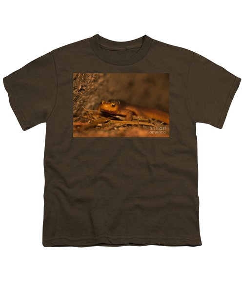 California Newt Youth T-Shirt by Ron Sanford